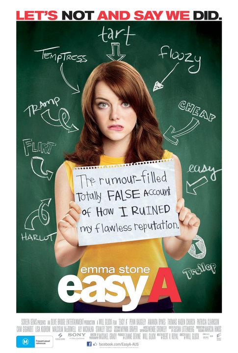 Easy A Australian Poster