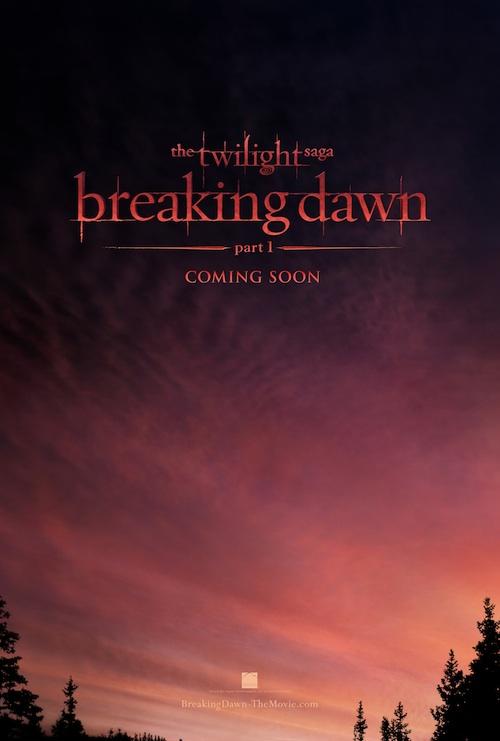 THE TWILIGHT SAGA: BREAKING DAWN-PART 1 Teaser Poster
