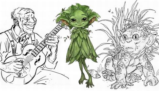 King of the Elves concept art