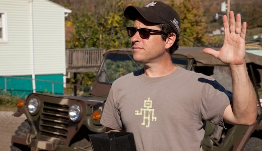 JJ Abrams on the set of 'Super 8'