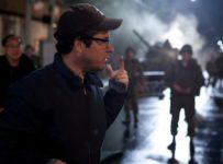 JJ Abrams on the set of SUPER 8