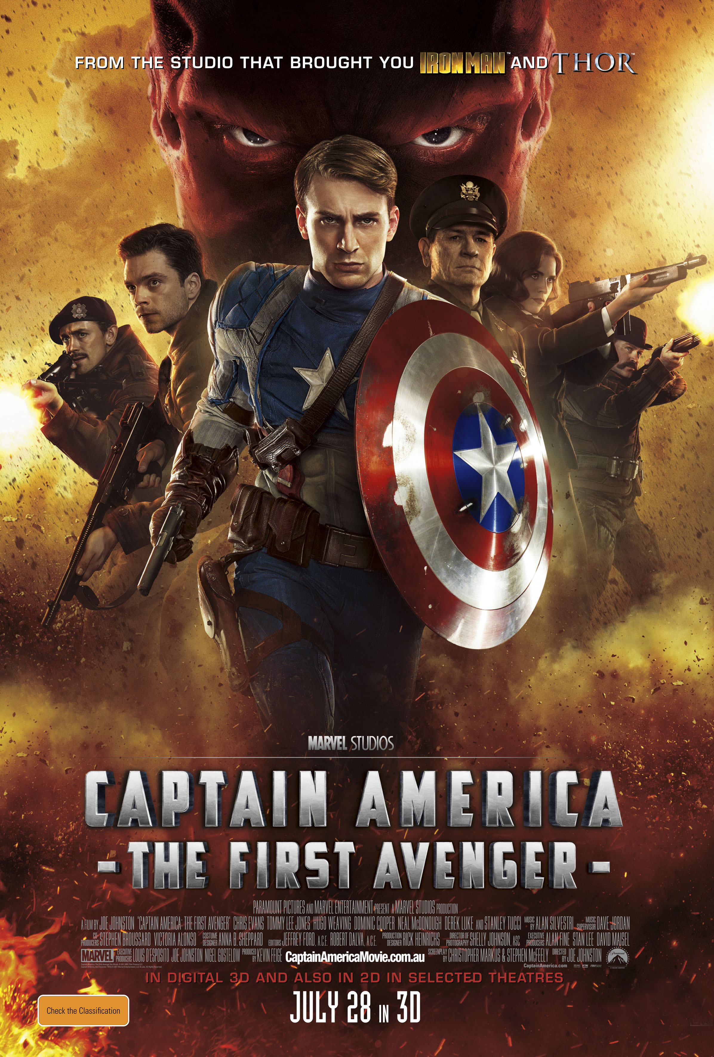 Captain America: The First Avenger - One-sheet (Australia)