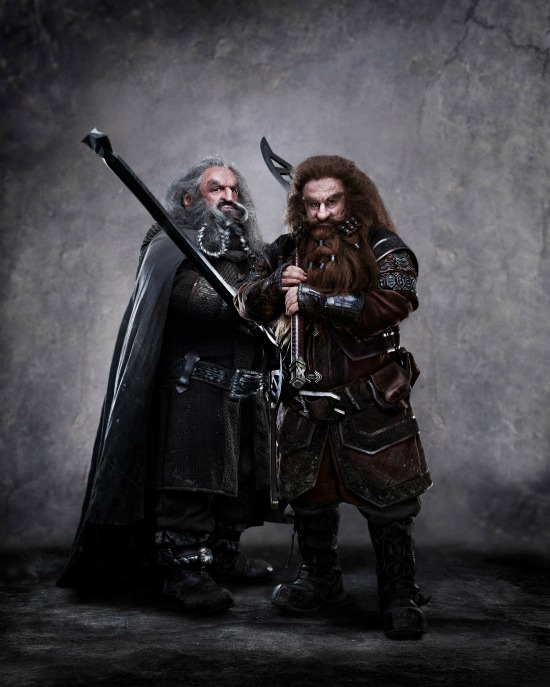 "John Callen as Oin and Peter Hambleton as Gloin in ""The Hobbit: An Unexpected Journey"""