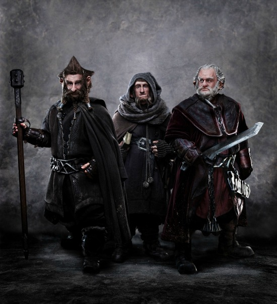 "Jed Brophy as Nori, Adam Brown as Ori and Mark Hadlow as Dori in ""The Hobbit: An Unexpected Journey"""