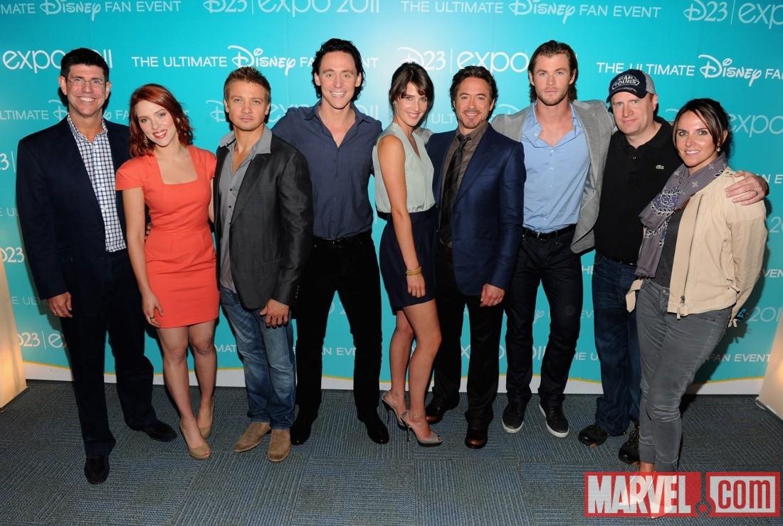 The Avengers Assemble at D23