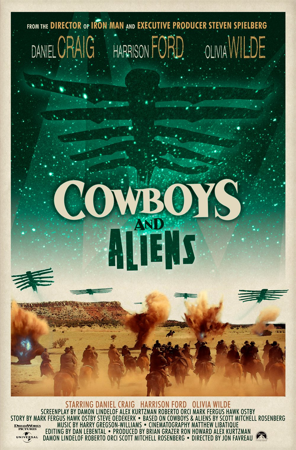 Cowboys and Aliens poster - Hopko Designs