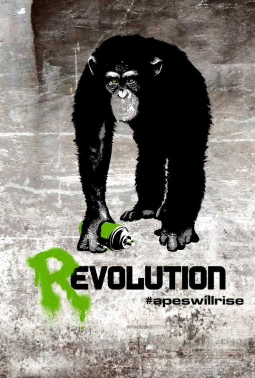 Rise of the Planet of the Apes - UK poster (2011)
