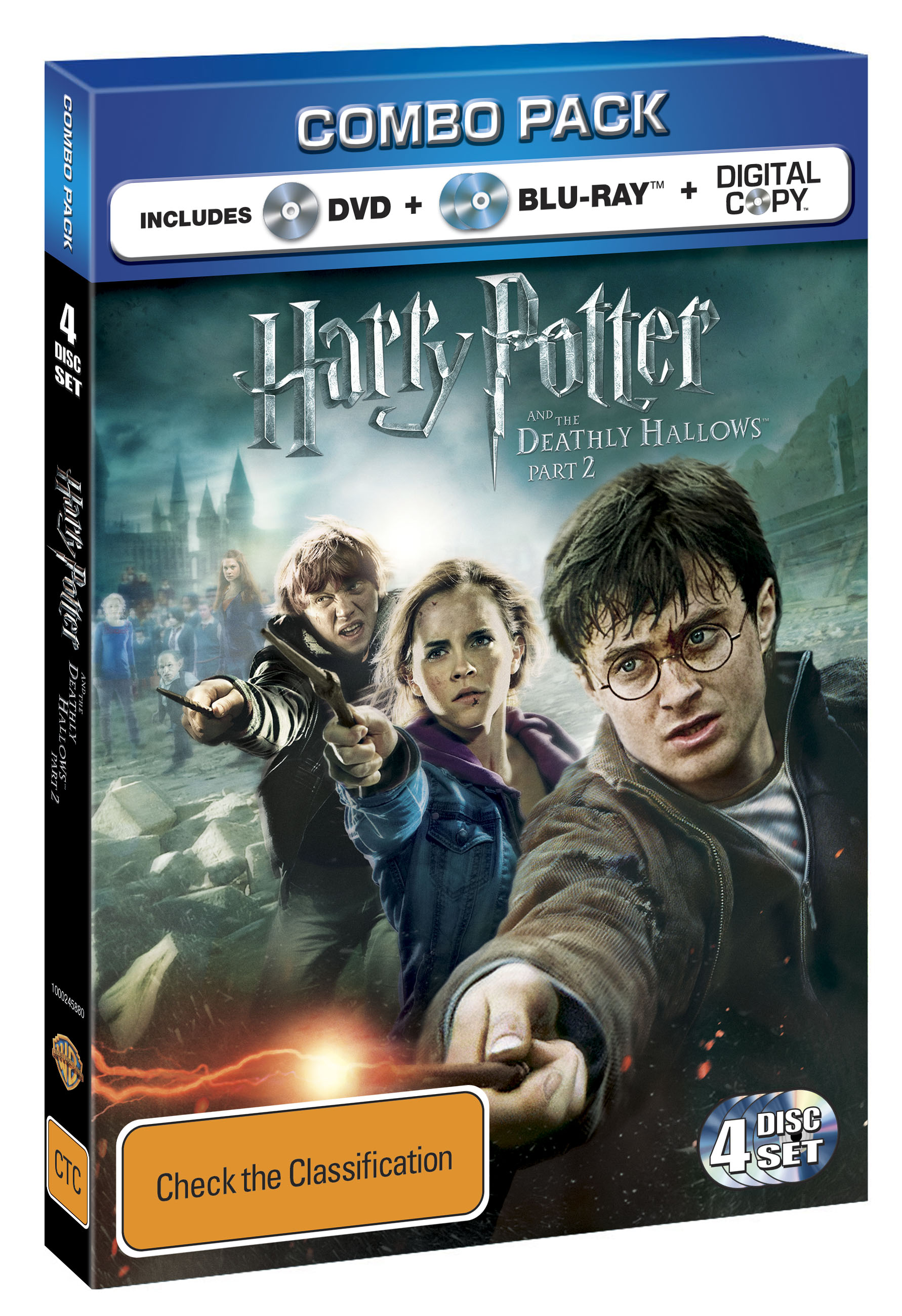 Harry Potter and the Deathly Hallows - Part 2 - Blu-ray DVD Combo Cover