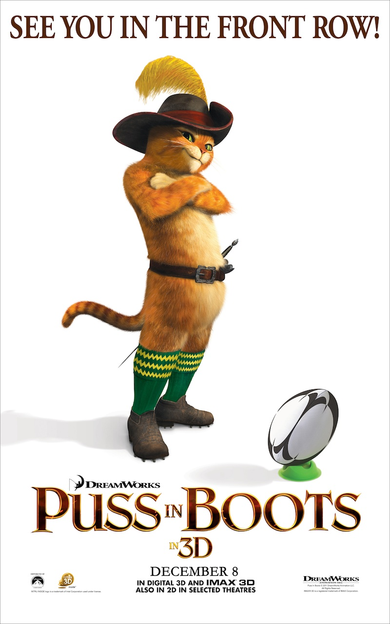 Puss in Boots - Rugby World Cup