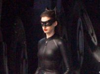 Anne Hathaway in Full Catwoman Costume on The Dark Knight Rises Set