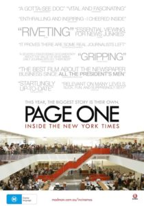 Page One:Inside the New York Times poster