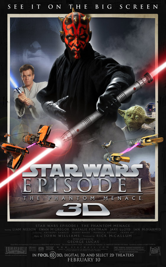 Star Wars: Episode I – The Phantom Menace 3D poster