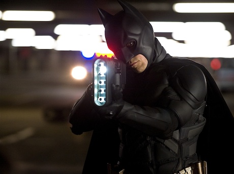 The Dark Knight Rises - Batman (Christian Bale) with a new gun
