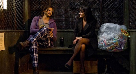 ASHTON KUTCHER as Randy and LEA MICHELE in New Year's Eve