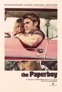 The Paperboy poster - Zac Efron and Nicole Kidman