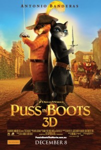 Puss in Boots poster Australia