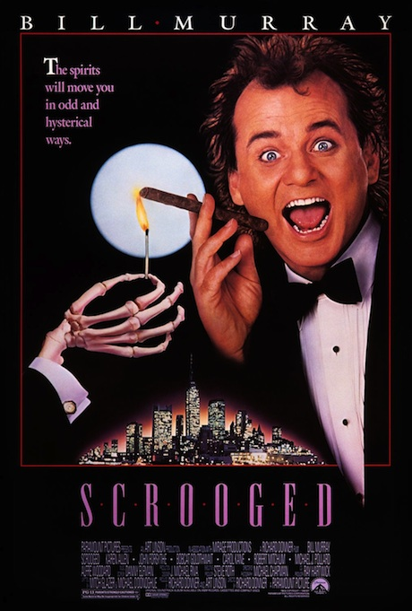 Scrooged (1988) poster - Bill Murray