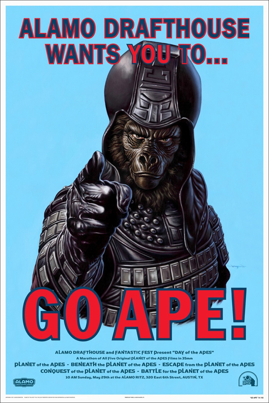 The Planet of the Apes - Mondo Go Ape poster