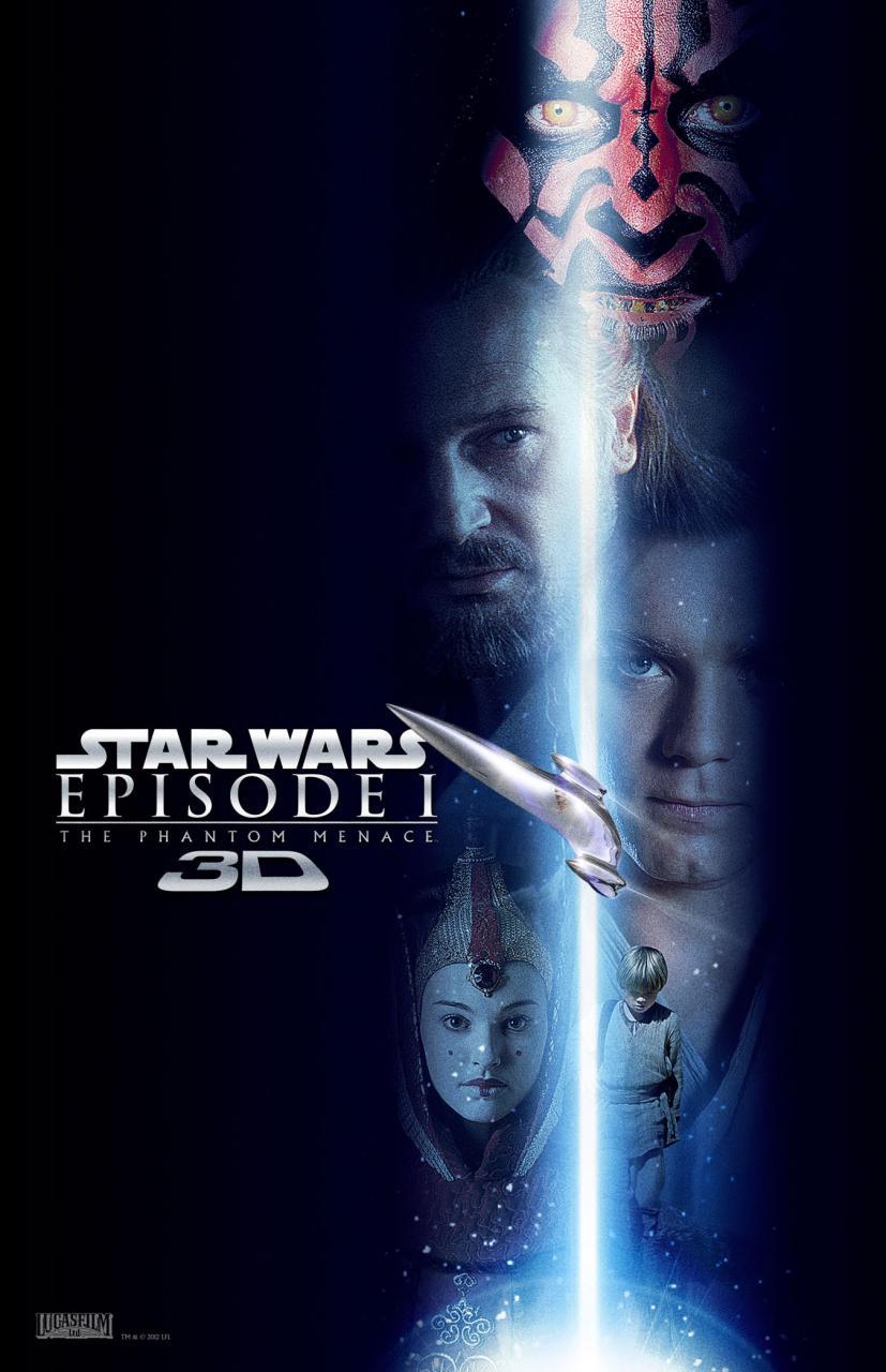 Star Wars: Episode I The Phantom Menace 3D poster - Blue