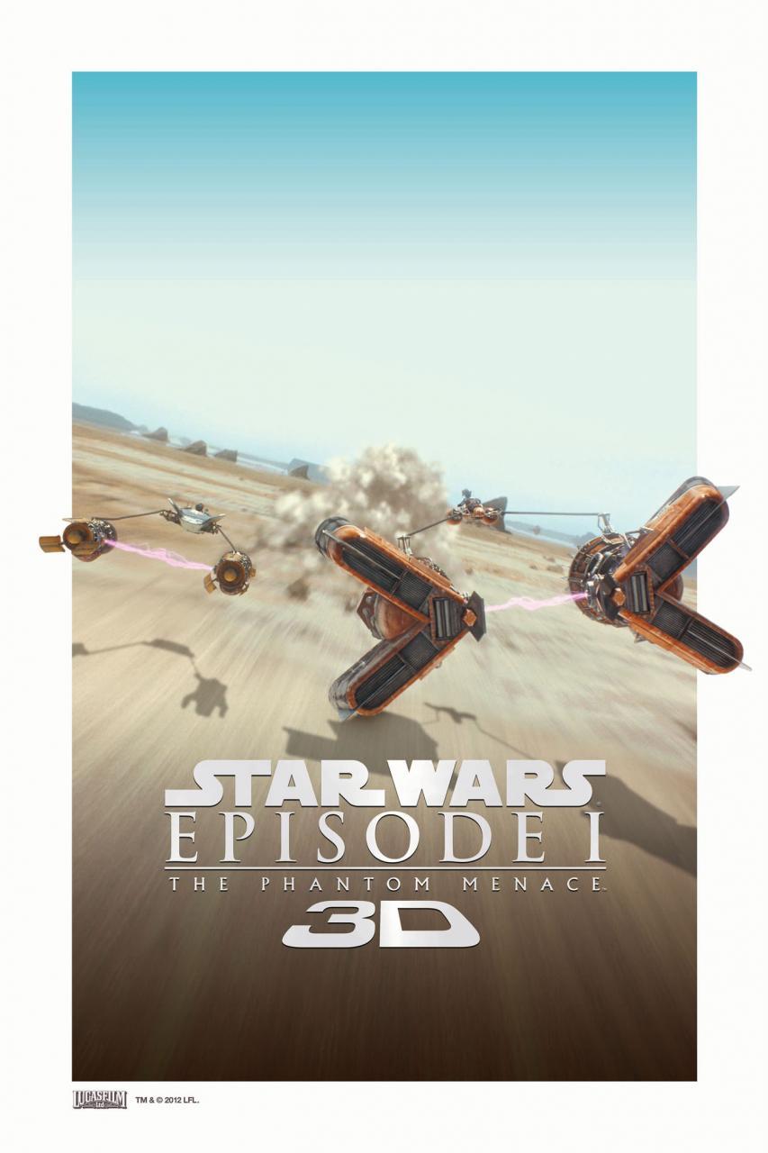 Star Wars: Episode I The Phantom Menace 3D poster - Podracer