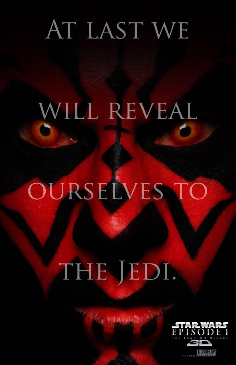 Star Wars: Episode I The Phantom Menace 3D poster - Darth Maul Reveal