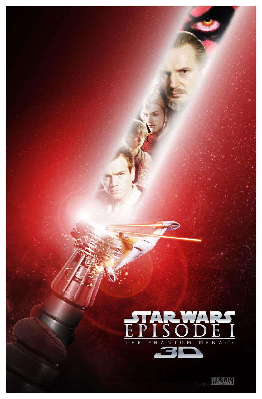 Star Wars: Episode I The Phantom Menace 3D poster - Lightsaber