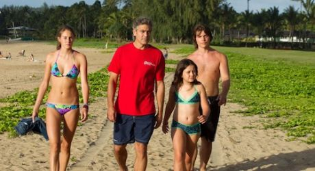 The-Descendants - Family (George Clooney, Shailene Woodley, Amara Miller and Nick Krause)