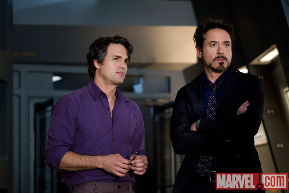 The Avengers - Bruce Banner (Mark Ruffalo) and Tony Stark (Robert Downey, Jr.)