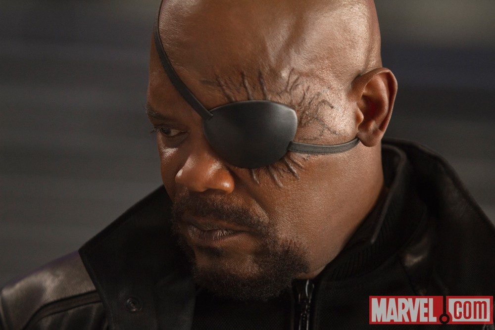 The Avengers - Nick Fury (Close-up)