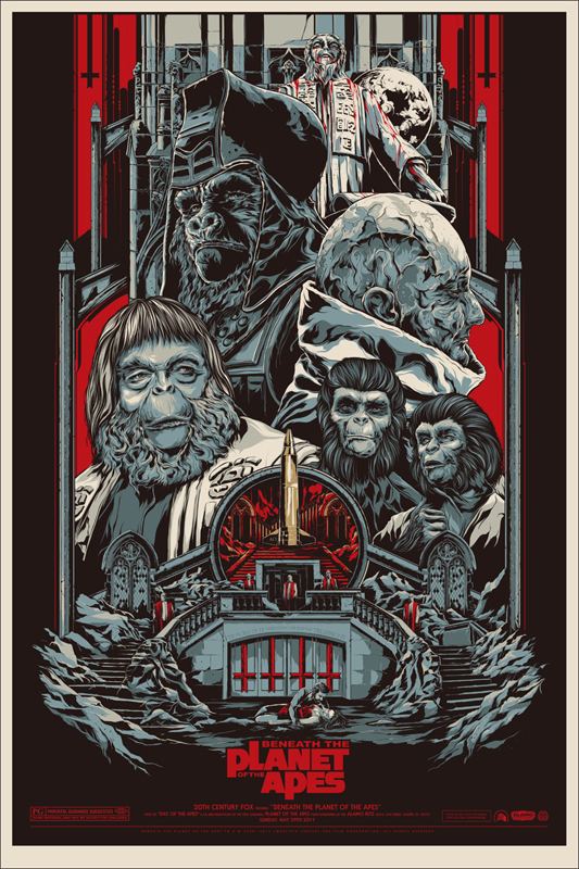 Beneath the Planet of the Apes - Mondo poster