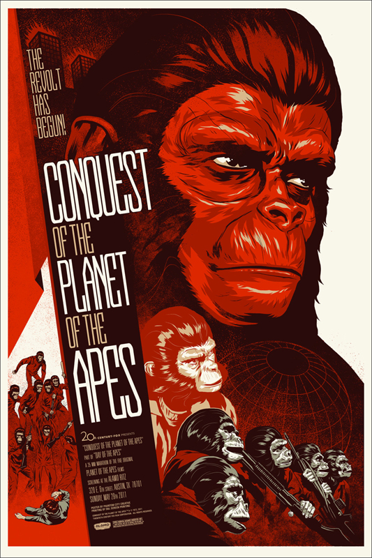 Conquest of the Planet of the Apes - Mondo poster