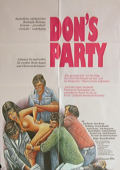 Don's Party (1976) poster - German