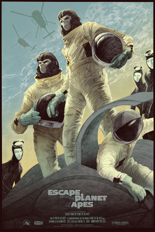 Escape from the Planet of the Apes - Mondo poster