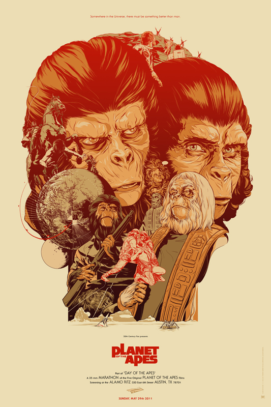 The Planet of the Apes - Mondo poster