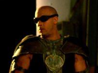 Vin Diesel on the set of RIDDICK