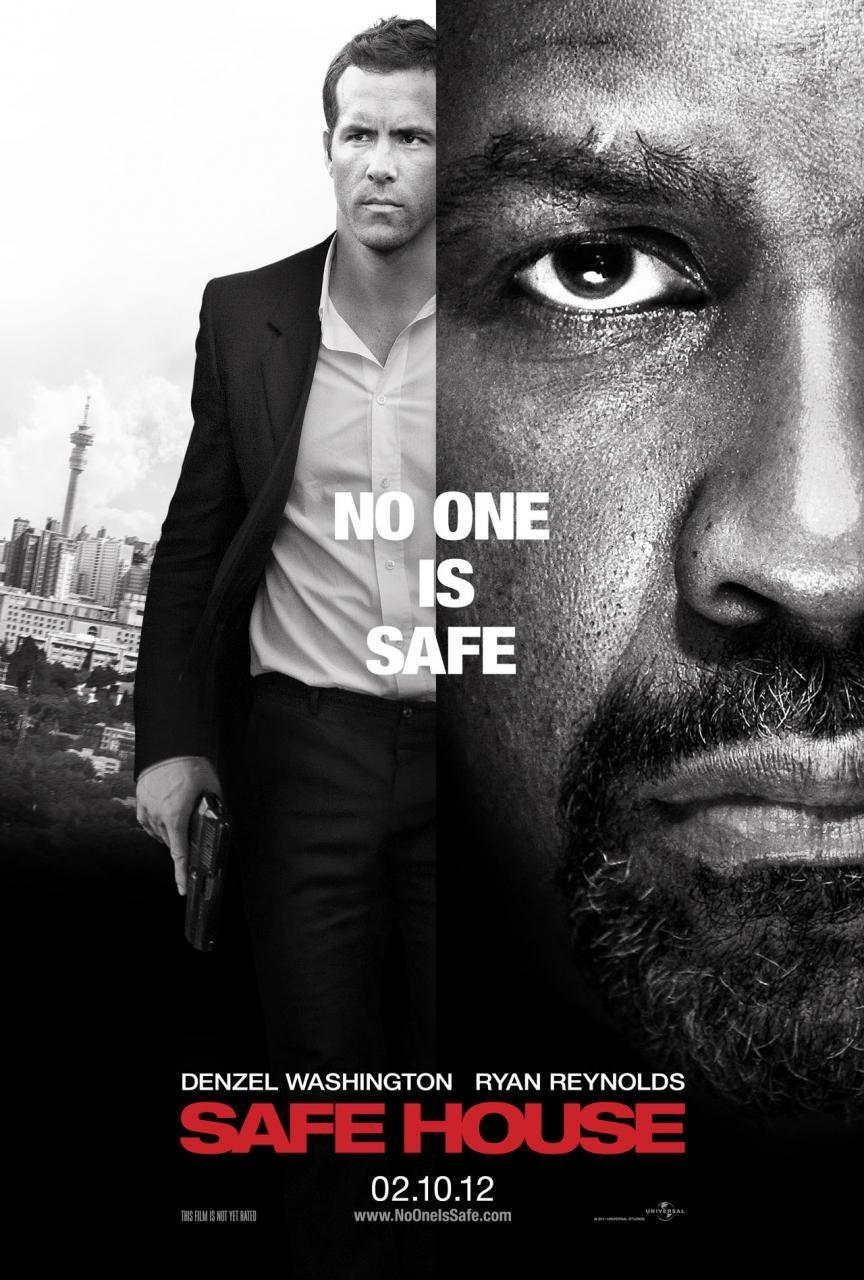 Safe House poster - Denzel Washington and Ryan Reynolds