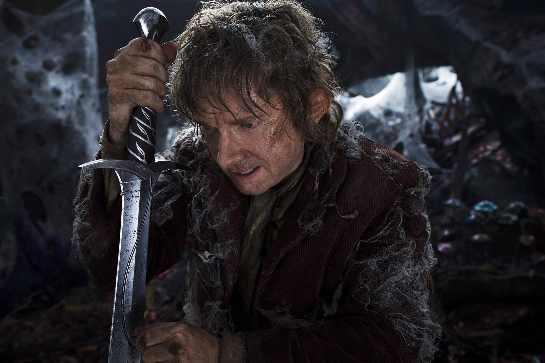 MARTIN FREEMAN as Bilbo Baggins in New Line Cinema's movie a THE HOBBIT: AN UNEXPECTED JOURNEY