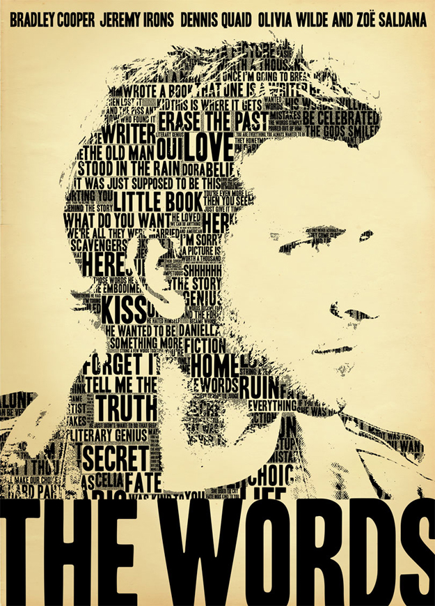 Eye-catching poster of Bradley Cooper in The Words – The ... The Words Bradley Cooper
