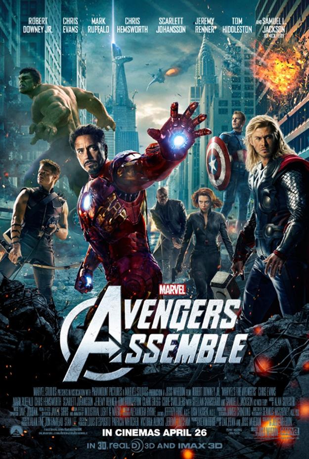 The Avengers Assemble poster UK