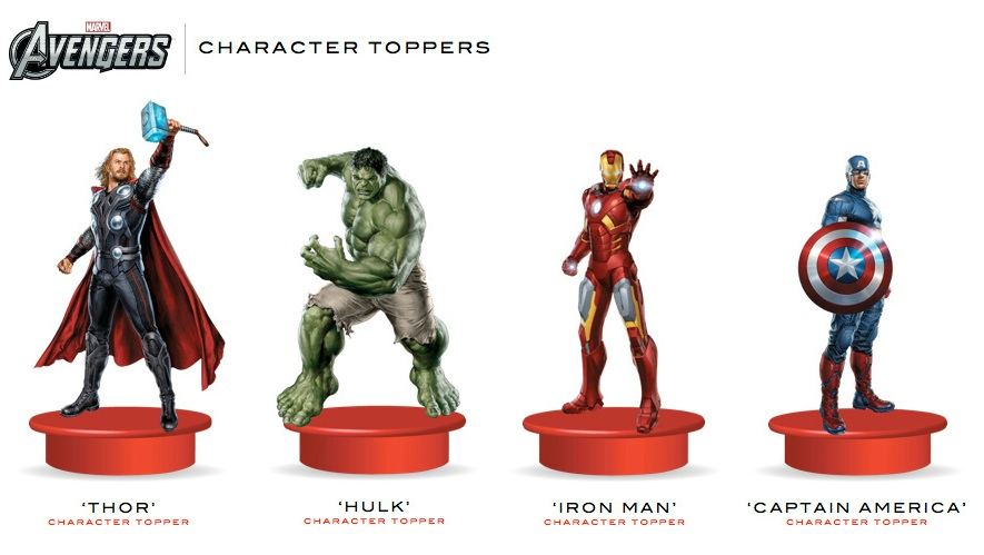 The Avengers Cup Toppers