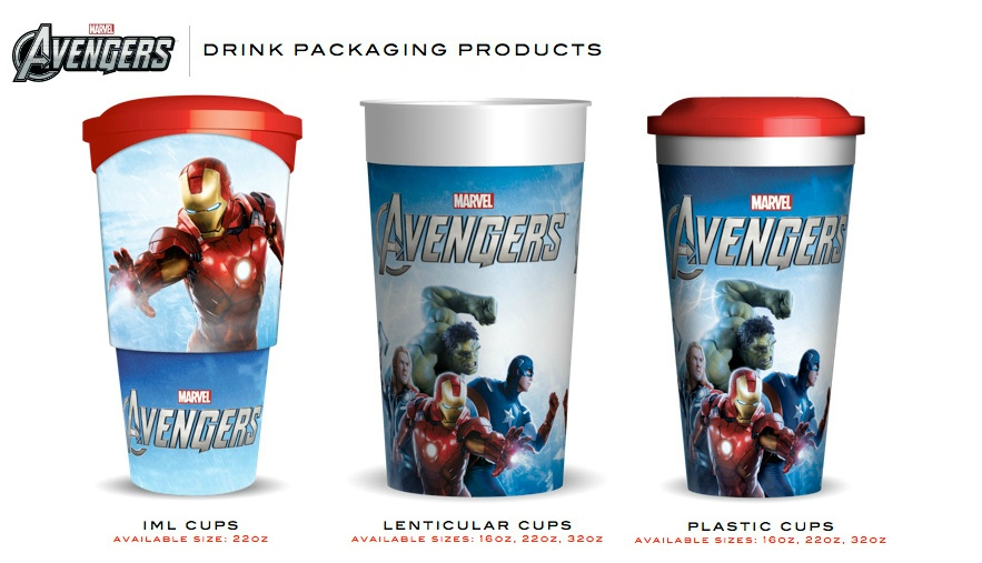 The Avengers Jumbo Cups
