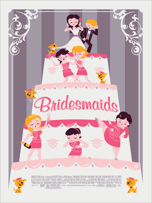 Bridesmaids Mondo poster