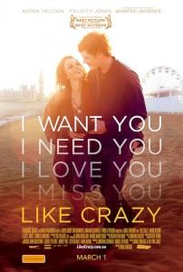 Like Crazy poster - Australia