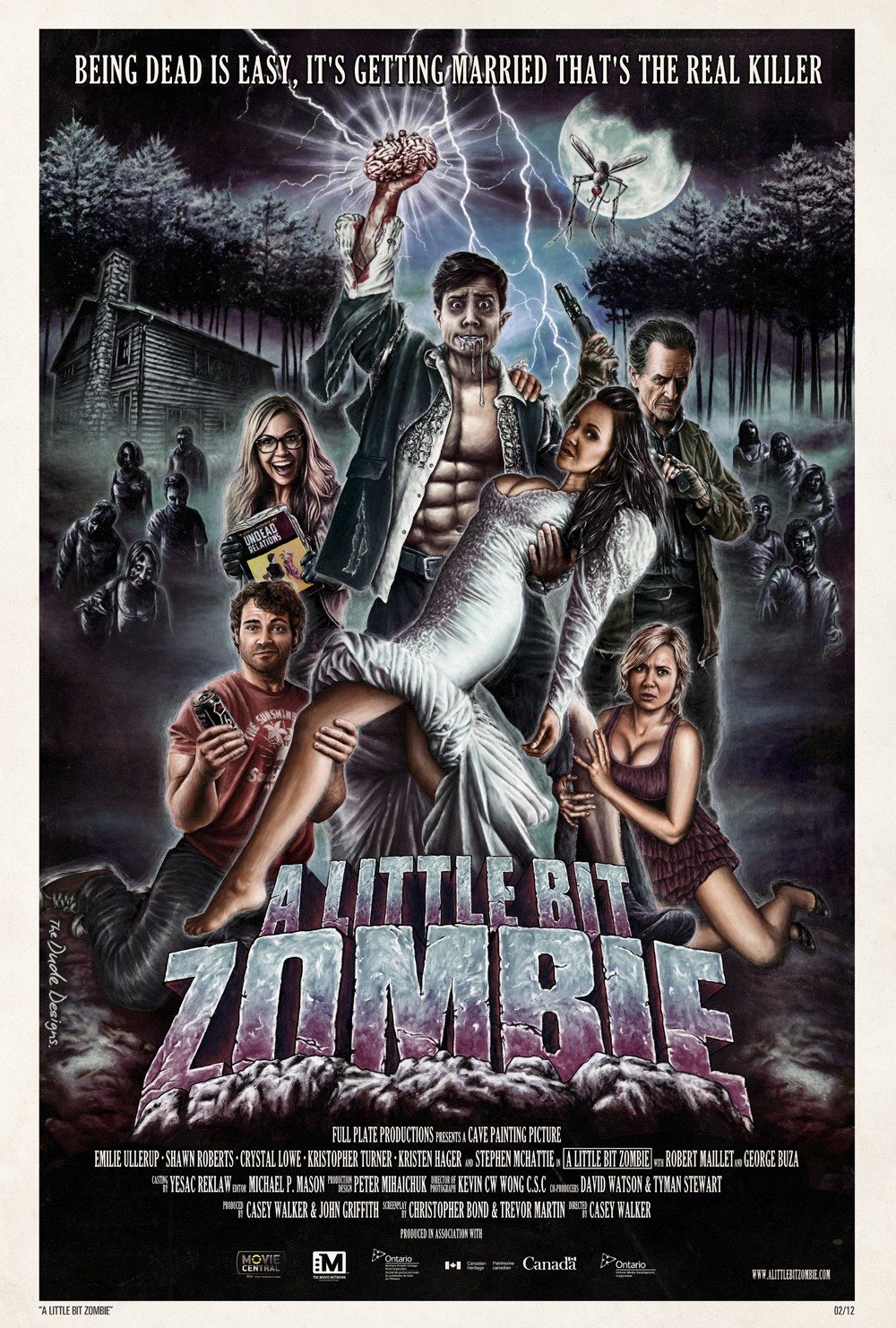 A Little Bit Zombie poster - Tom Hodge/The Dude Designs