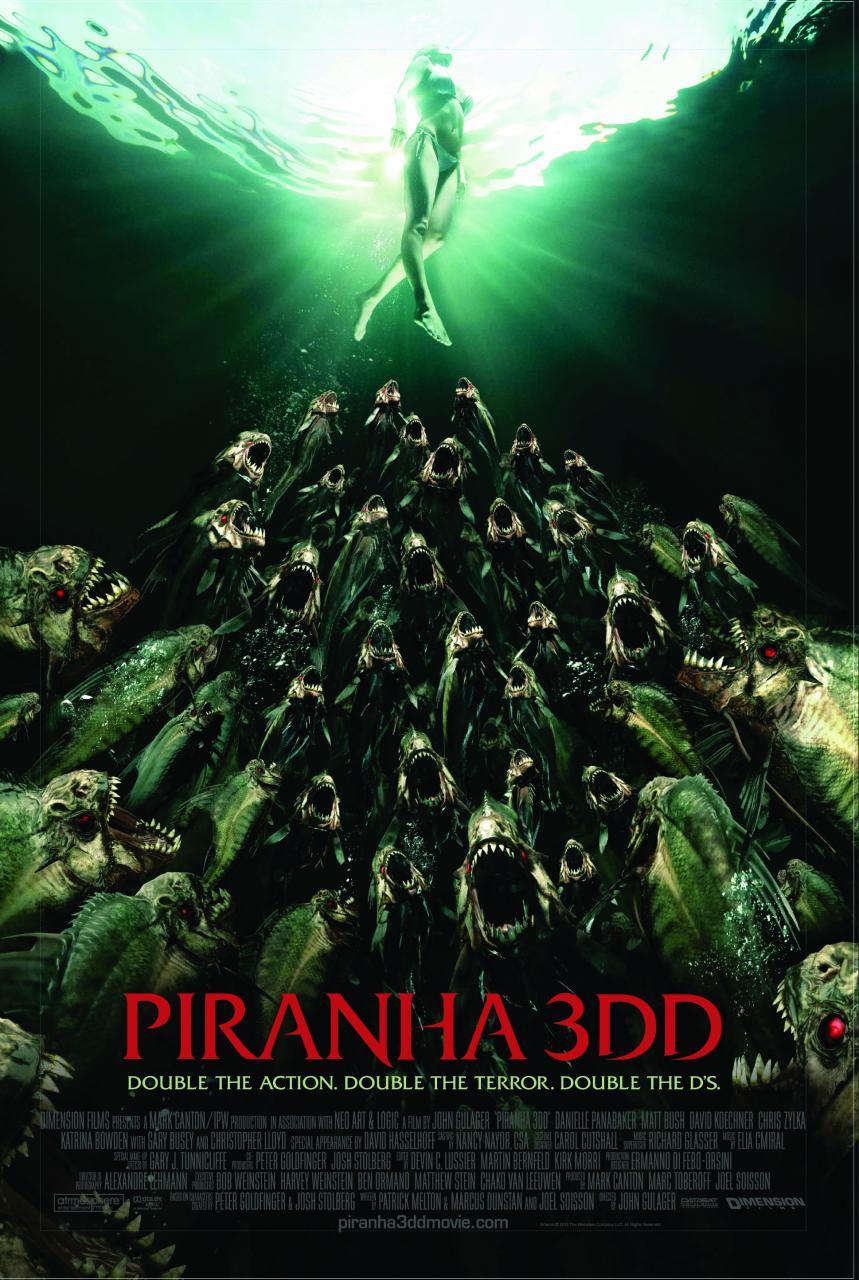 Piranha 3DD International poster 1