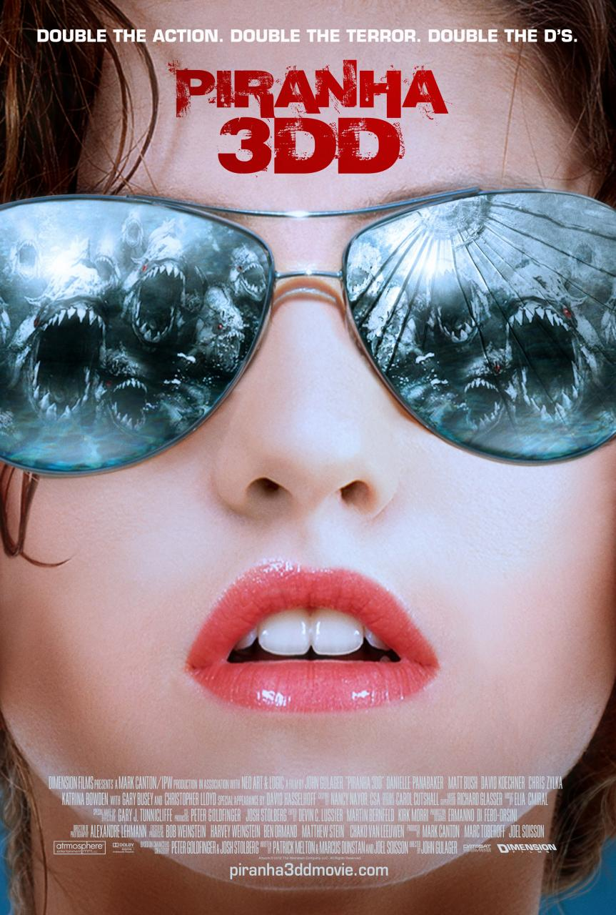 Piranha 3DD International poster 2