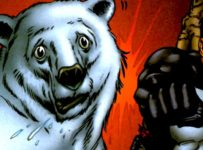 The Punisher punches a polar bear in Welcome Back, Frank