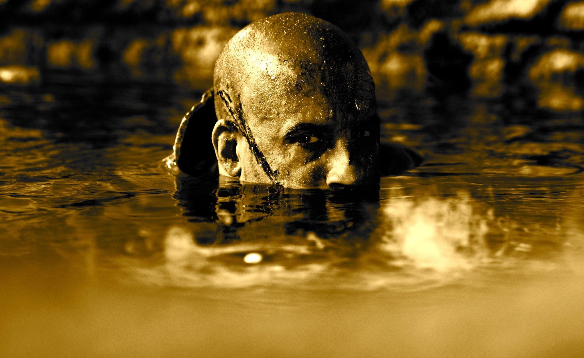 Vin Diesel in a still from RIDDICK