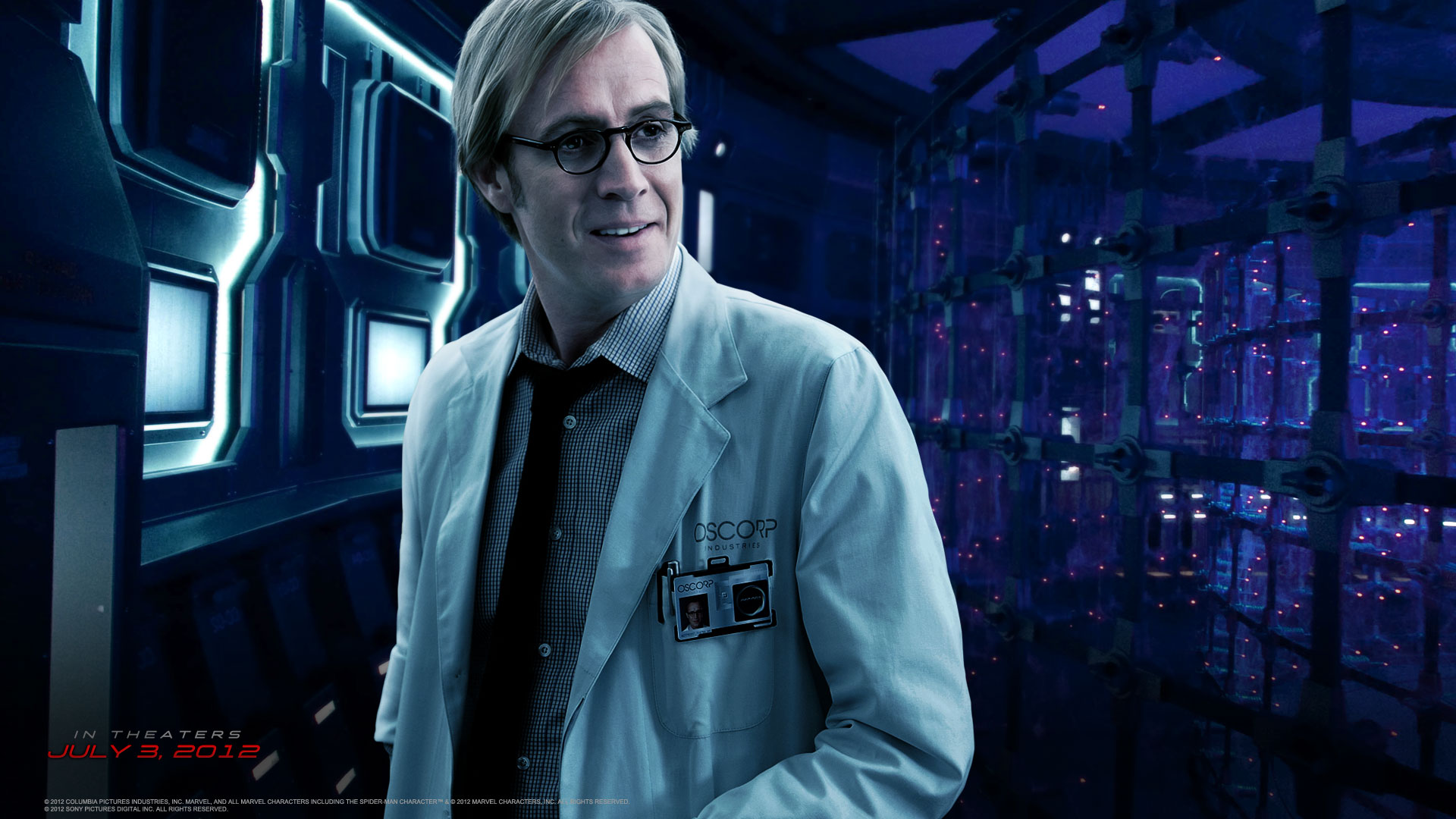Rhys Ifans and Dr Connors in The Amazing Spider-man