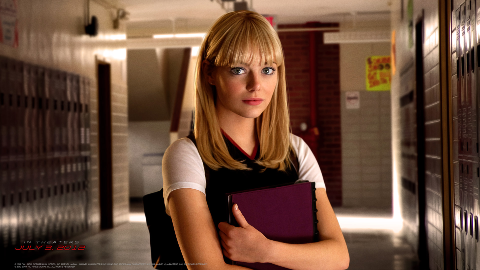 Emma Stone is Gwen Stacey in the Amazing Spider-man